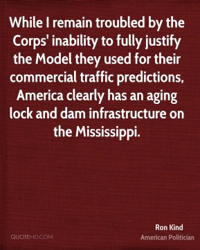 While I remain troubled by the Corps' inability to fully justify the Model they used for their commercial traffic predictions, America clearly has an aging lock and dam infrastructure on the Mississippi.