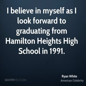I believe in myself as I look forward to graduating from Hamilton Heights High School in 1991.