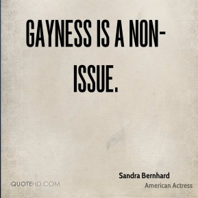 Gayness is a non-issue.