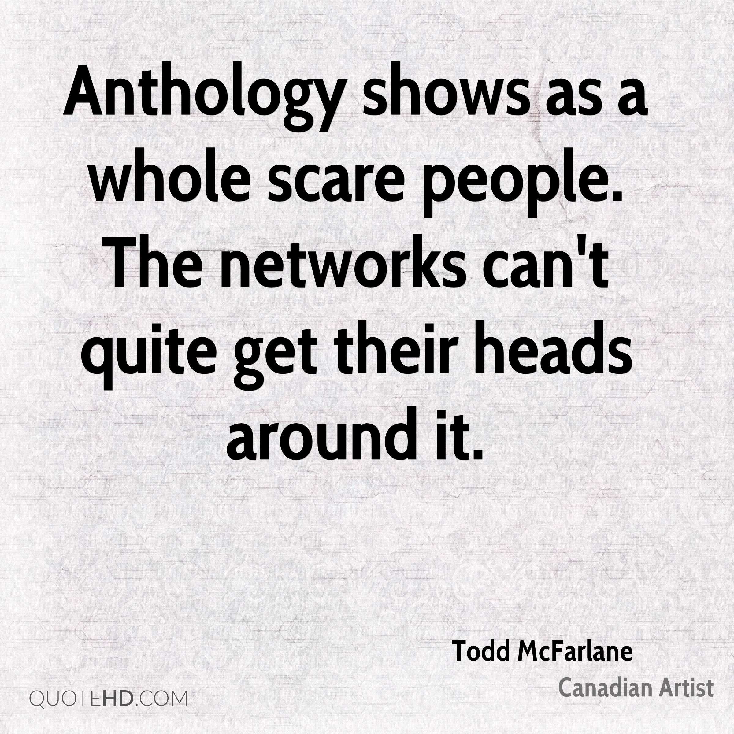 Anthology shows as a whole scare people. The networks can't quite get their heads around it.