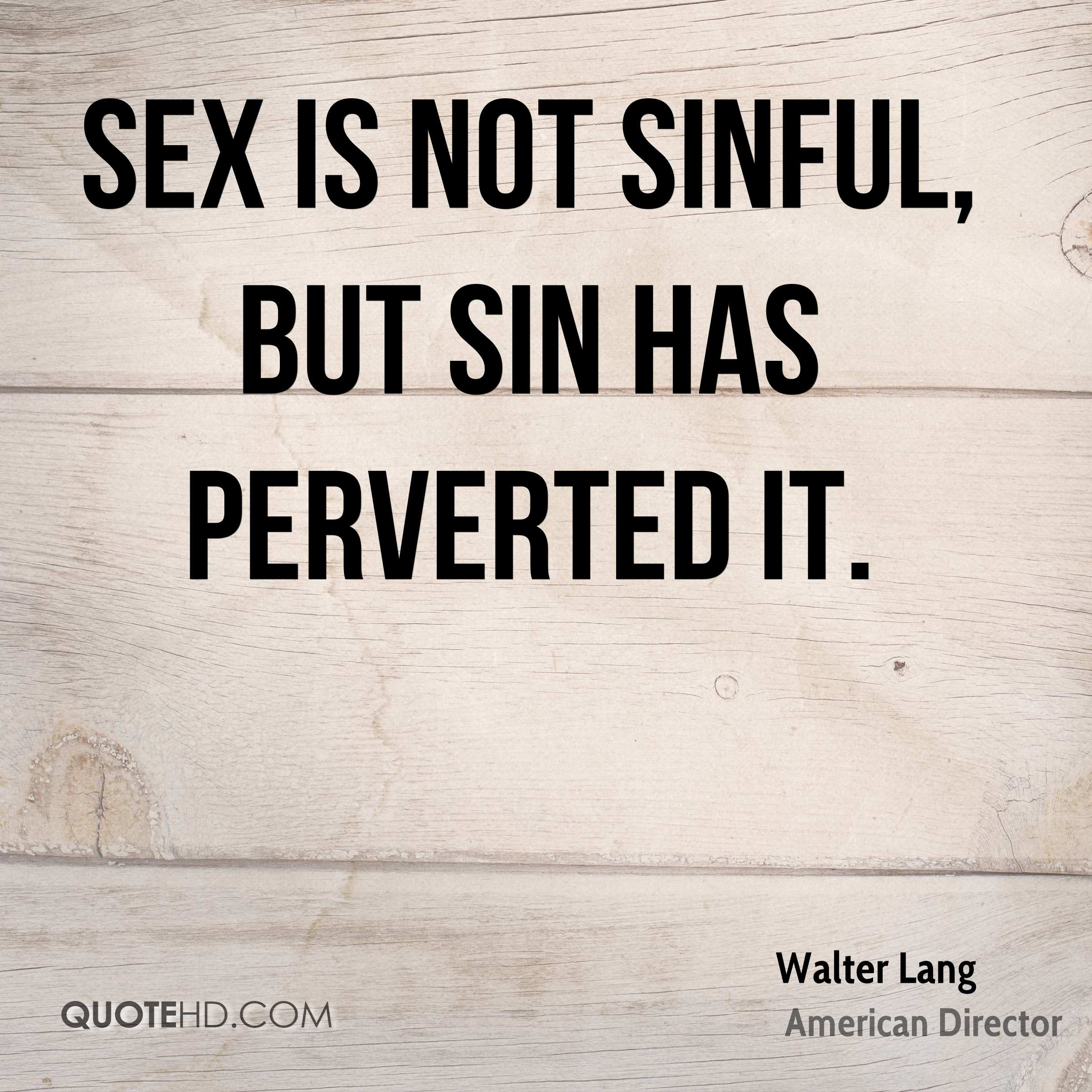 Sex is not a sin