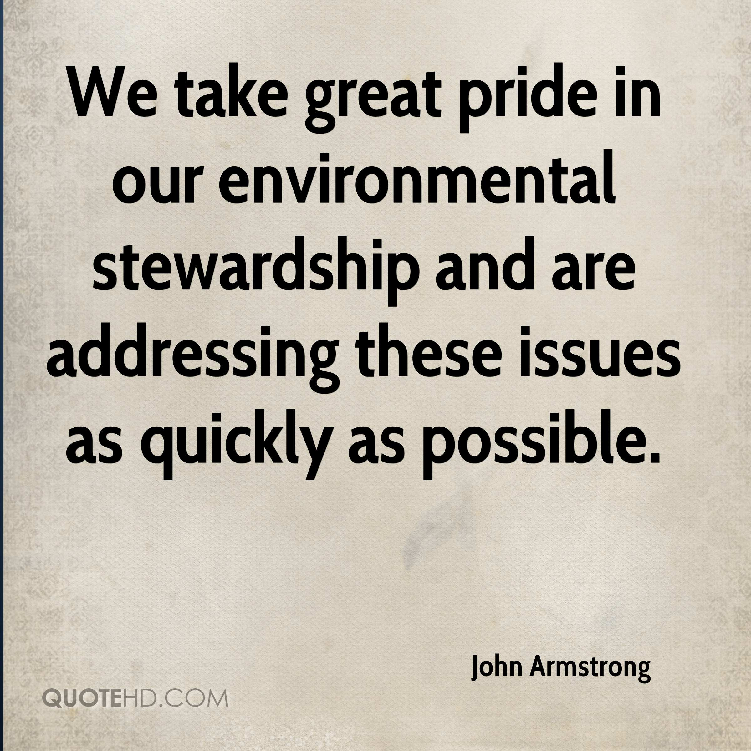 Stewardship Quotes John Armstrong Quotes  Quotehd