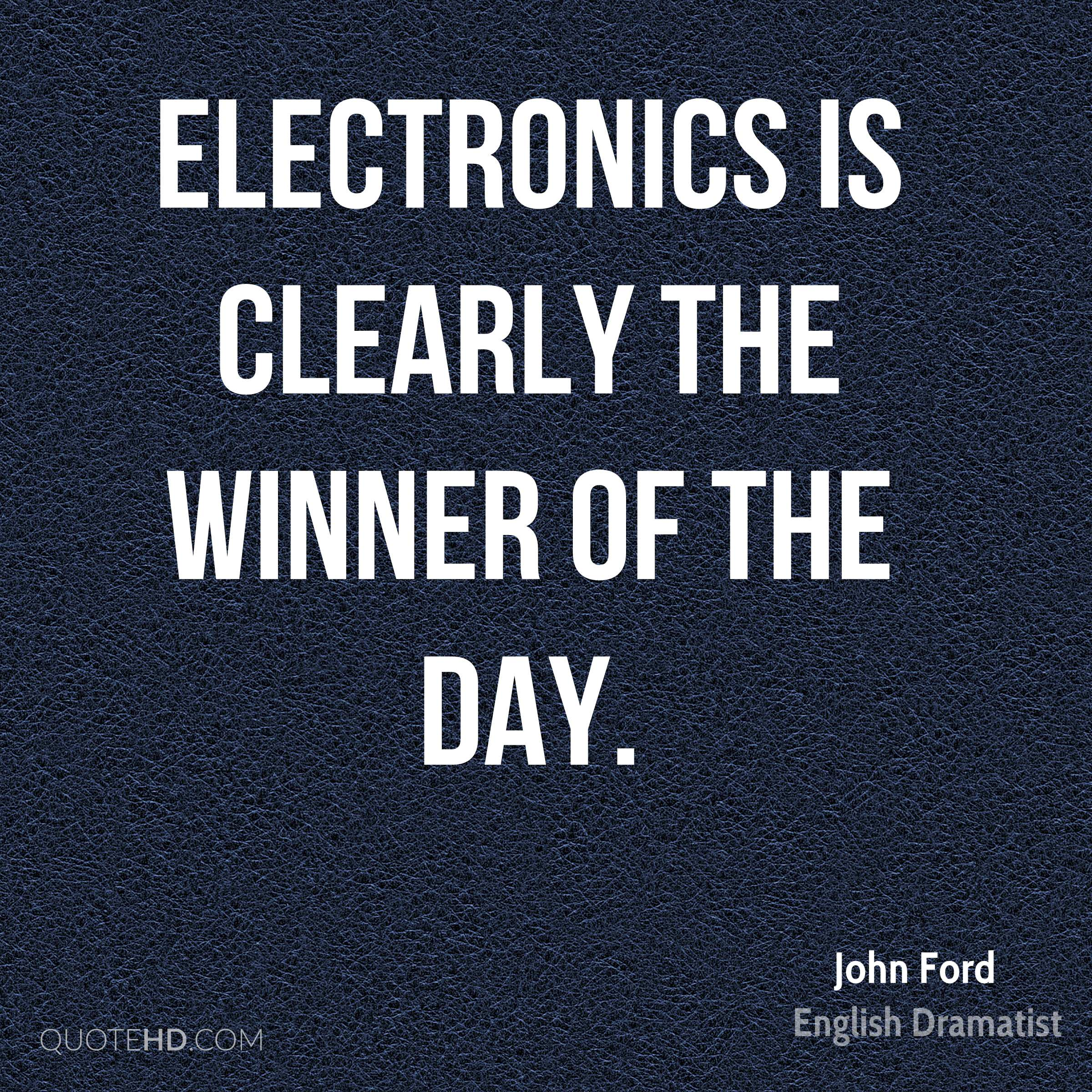 Electronics is clearly the winner of the day.