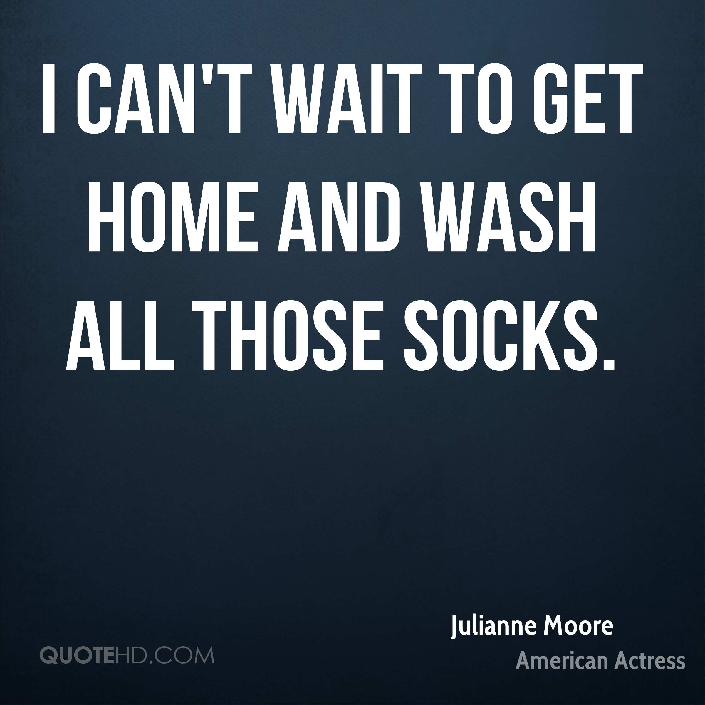 I can't wait to get home and wash all those socks.