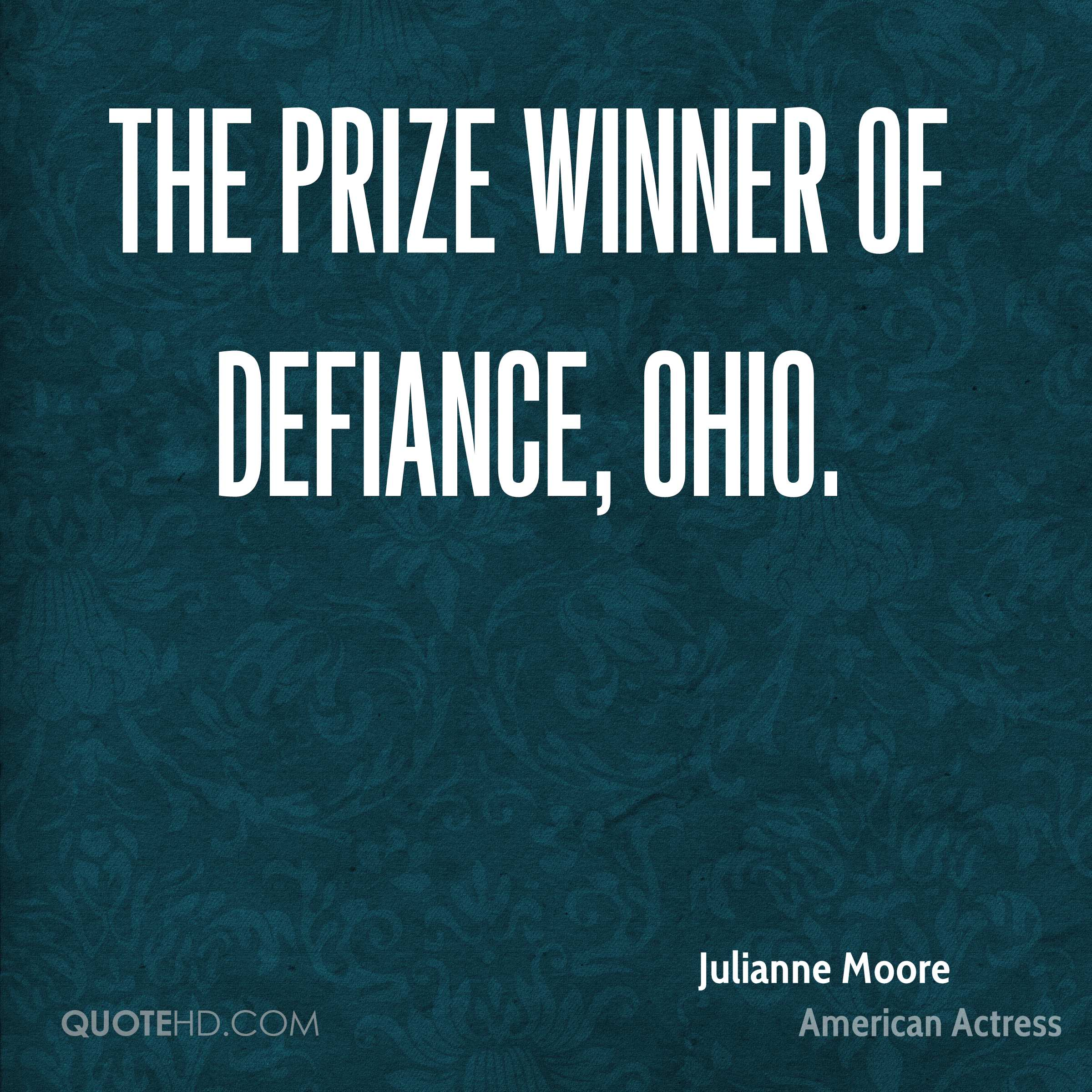 The Prize Winner of Defiance, Ohio.