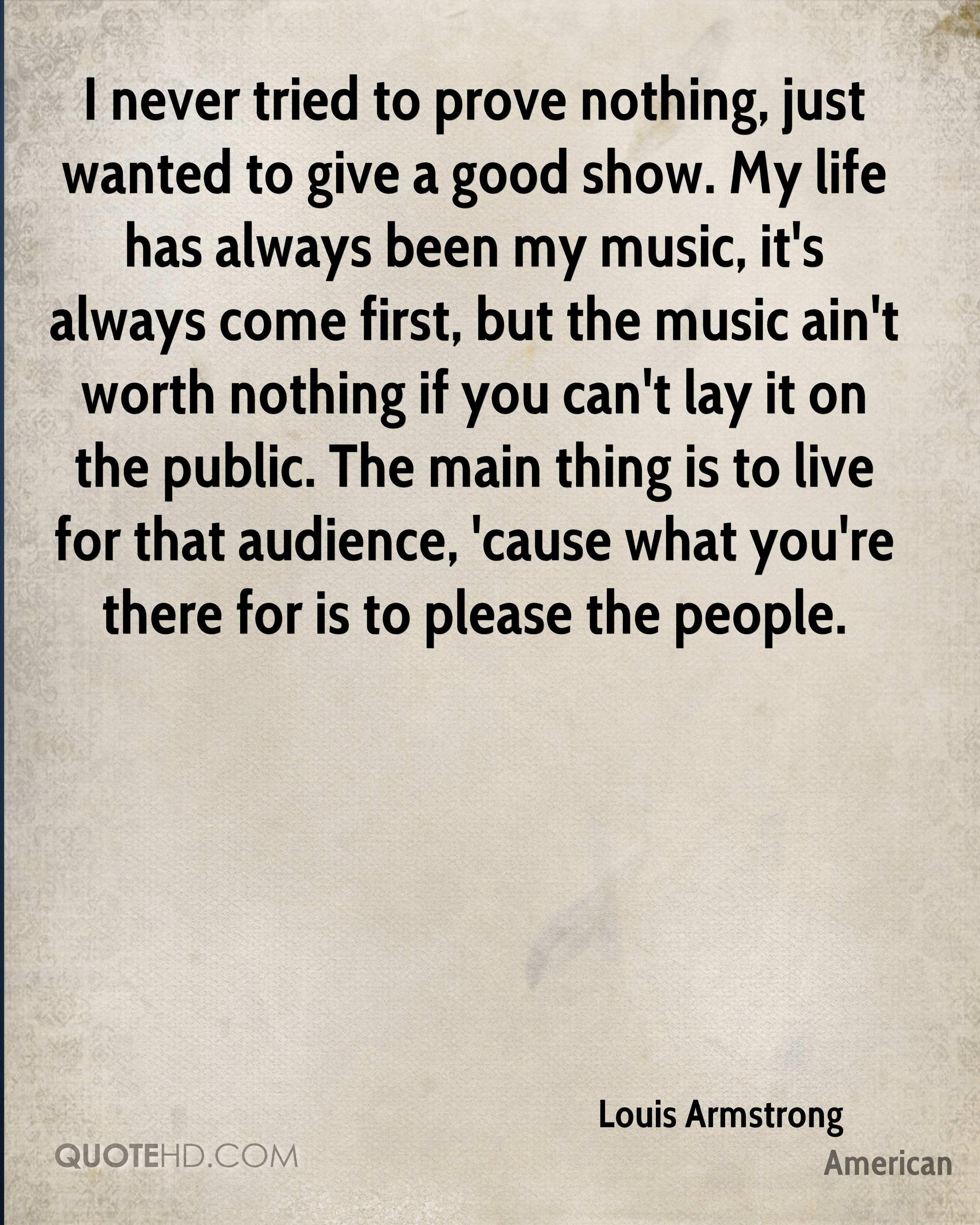 Louis Armstrong Life Quotes Quotehd
