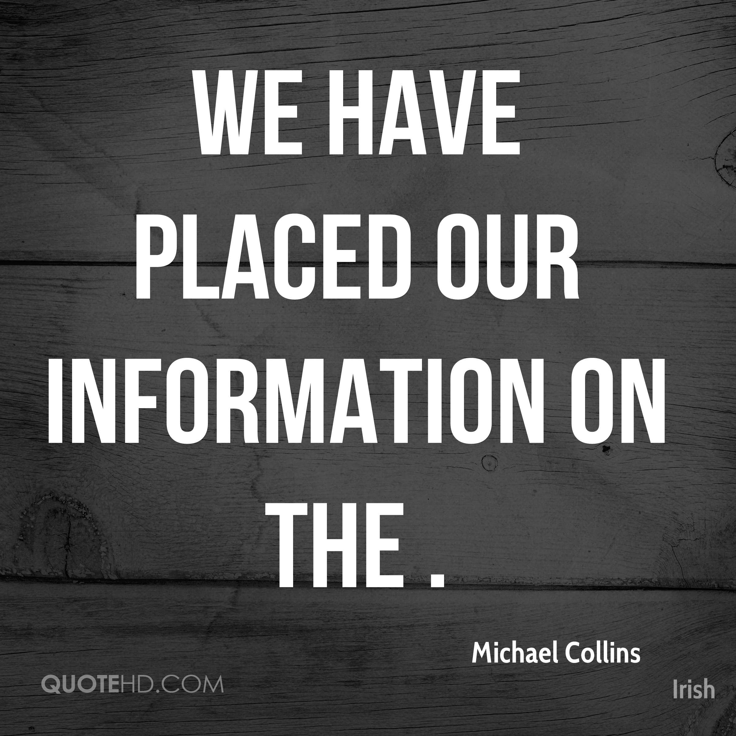 We have placed our information on the .