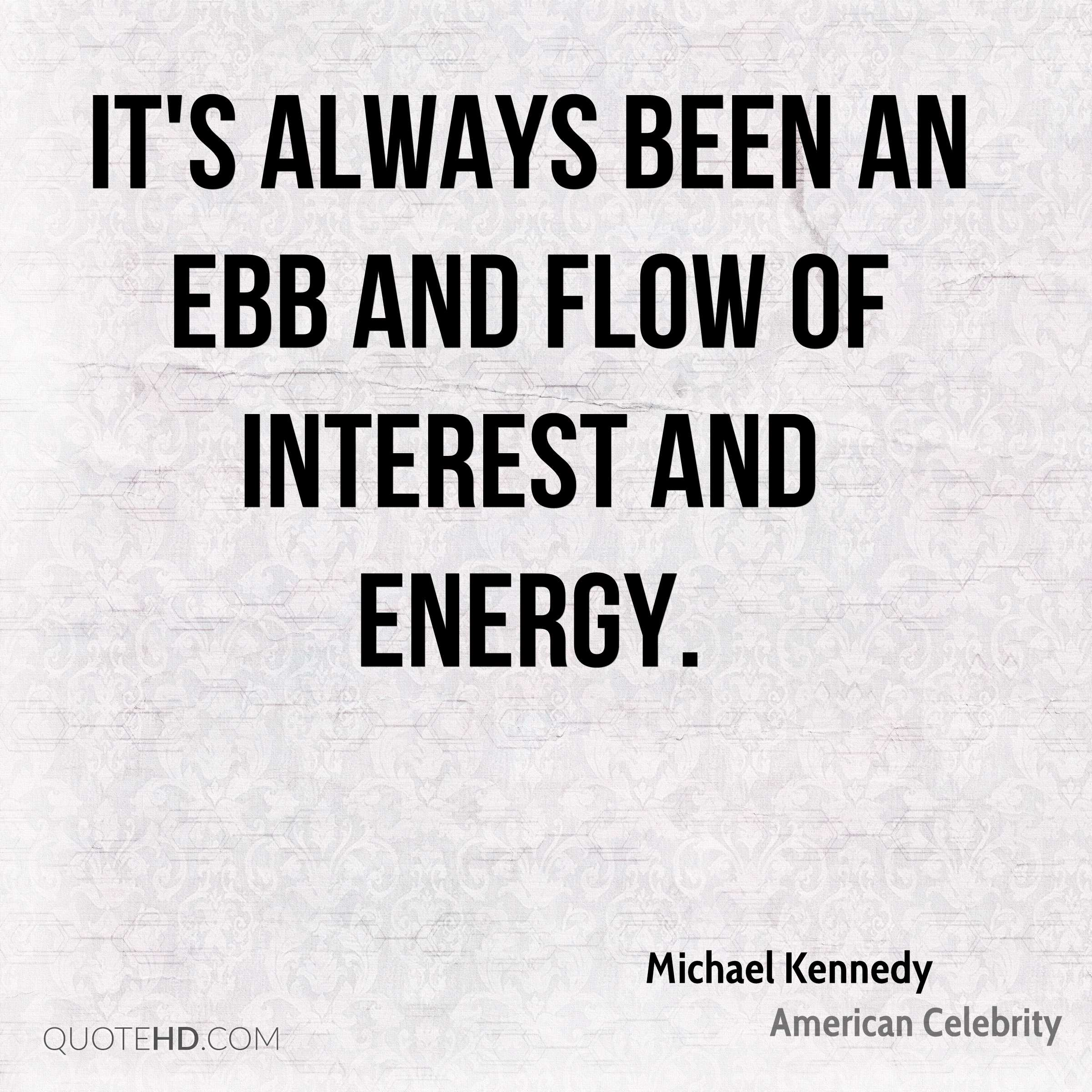It's always been an ebb and flow of interest and energy.