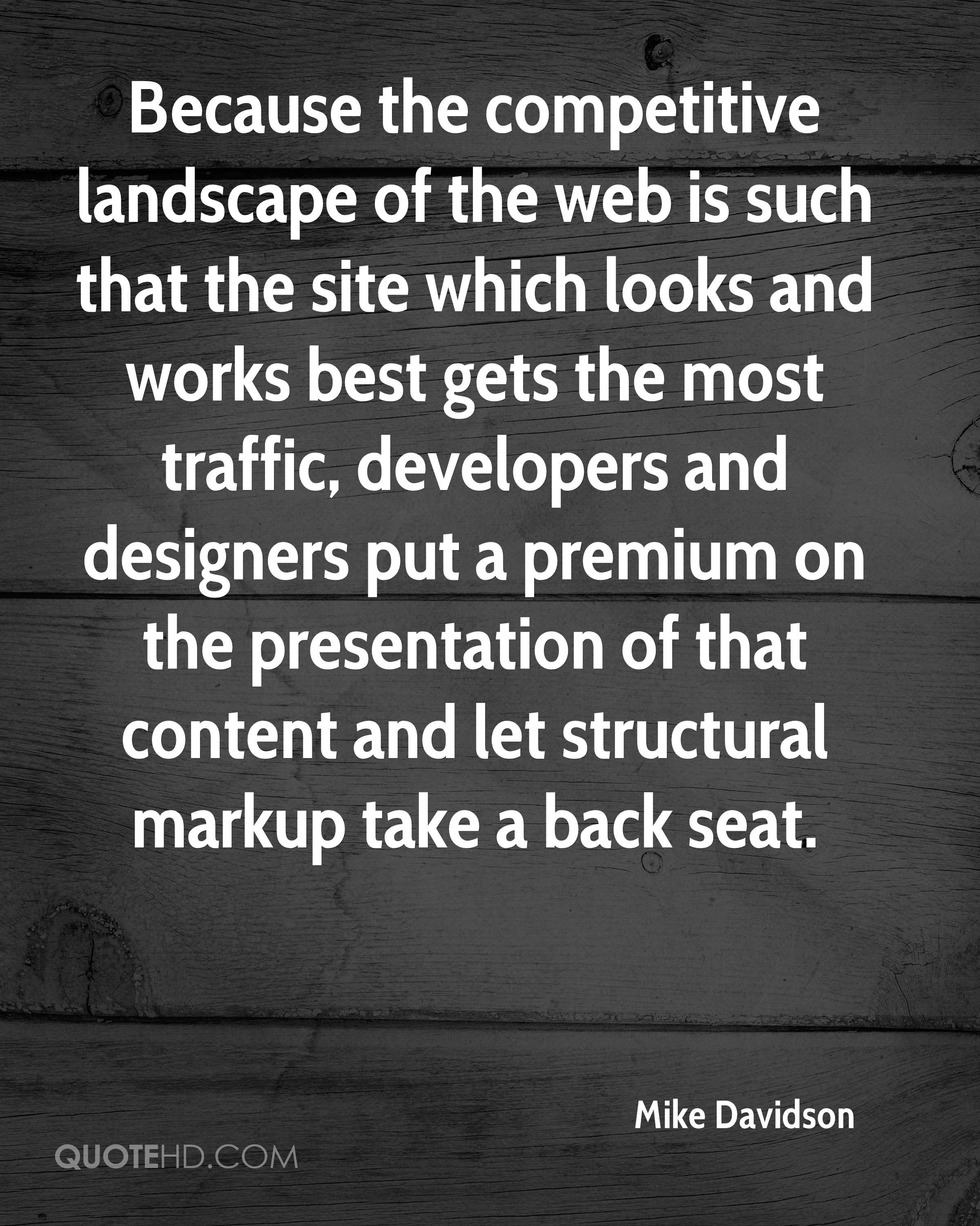 Because the competitive landscape of the web is such that the site which looks and works best gets the most traffic, developers and designers put a premium on the presentation of that content and let structural markup take a back seat.