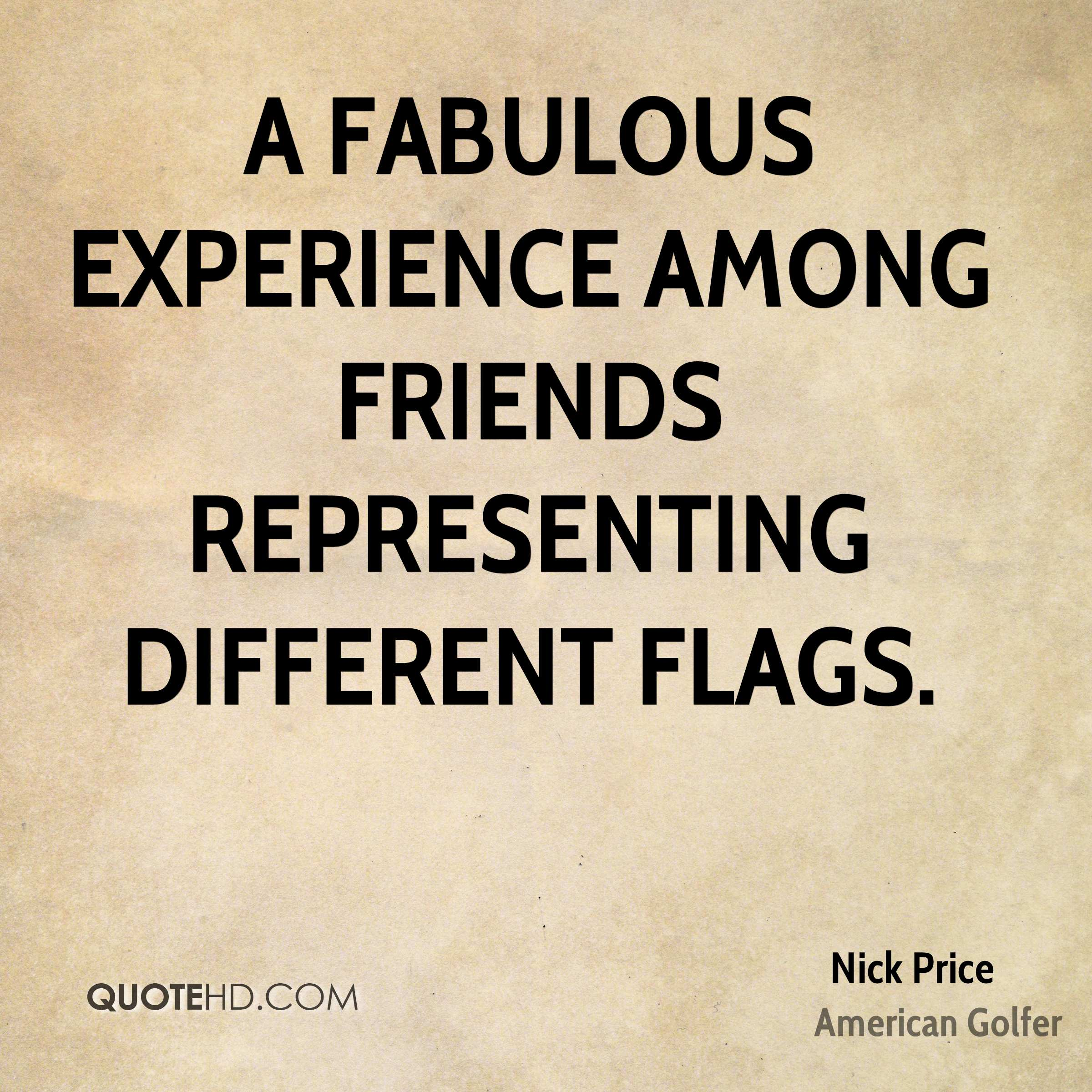 A fabulous experience among friends representing different flags.
