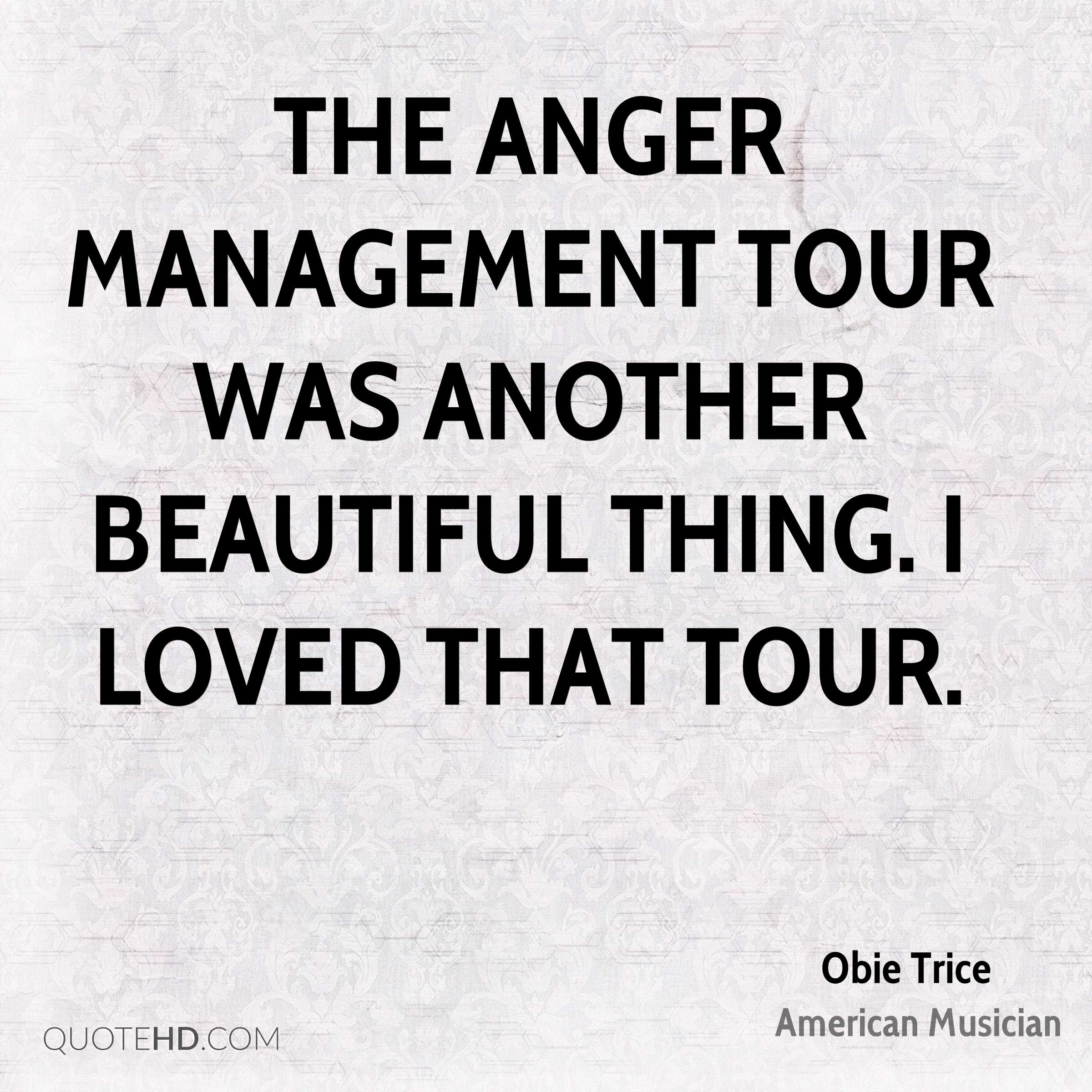 The Anger Management Tour was another beautiful thing. I loved that tour.