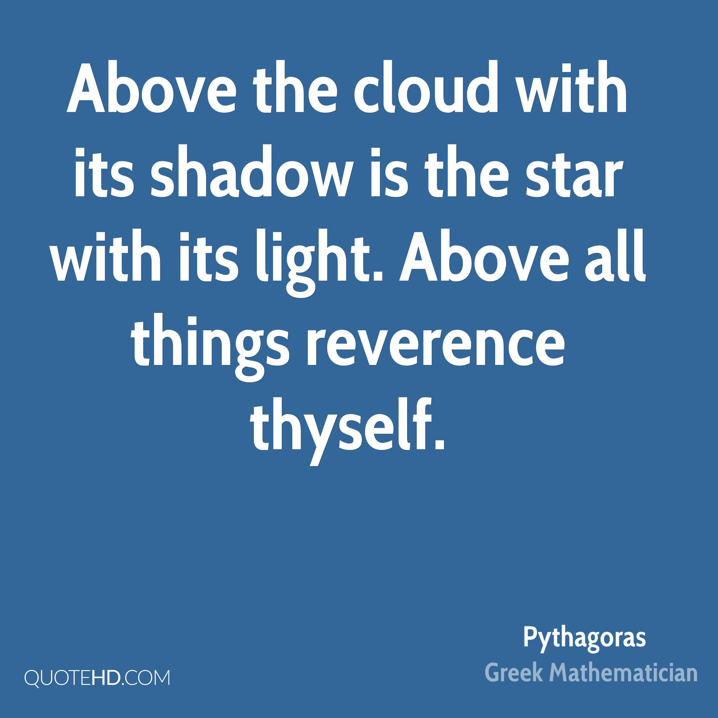 Pythagoras quotes about math