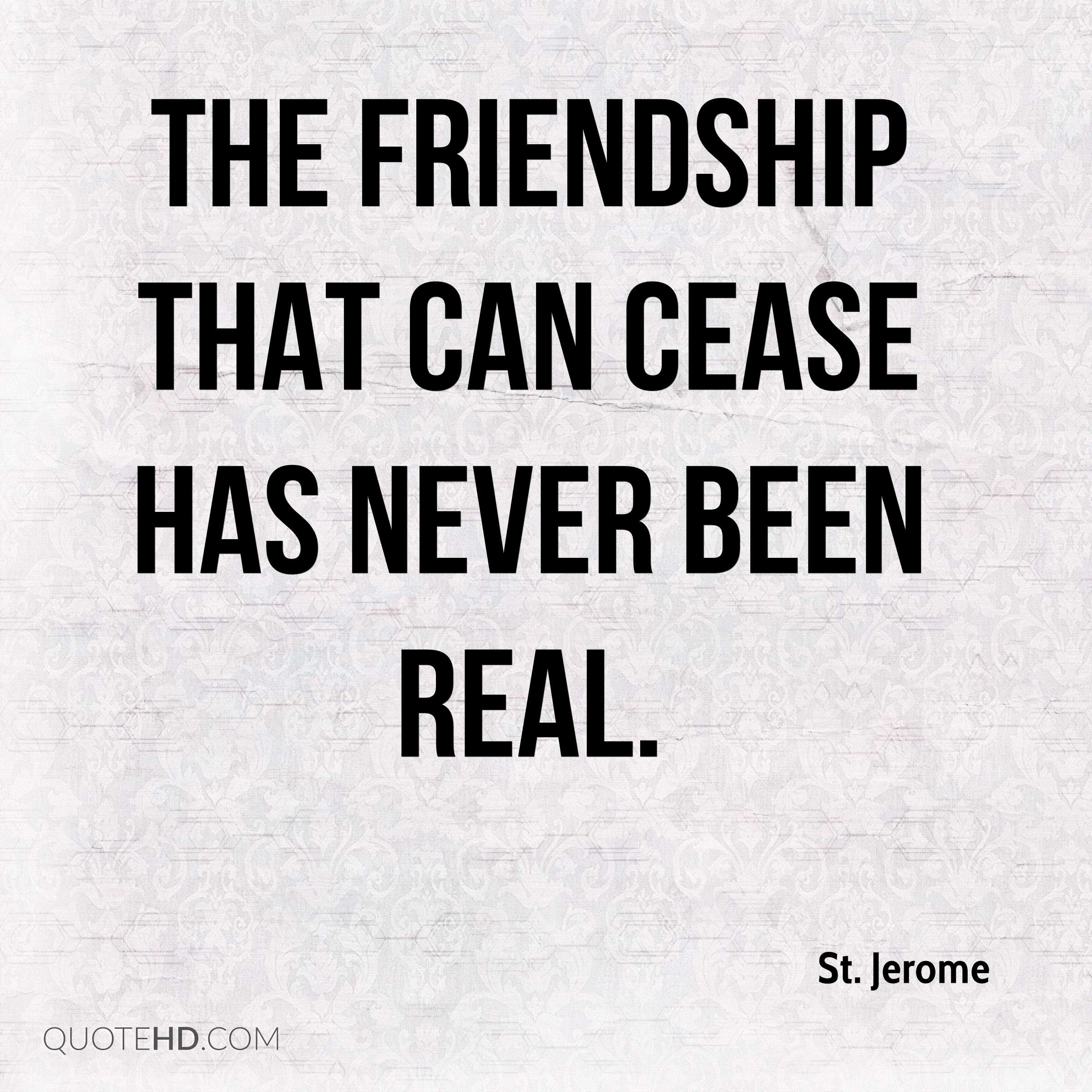 A Quote About Friendship Stjerome Friendship Quotes  Quotehd