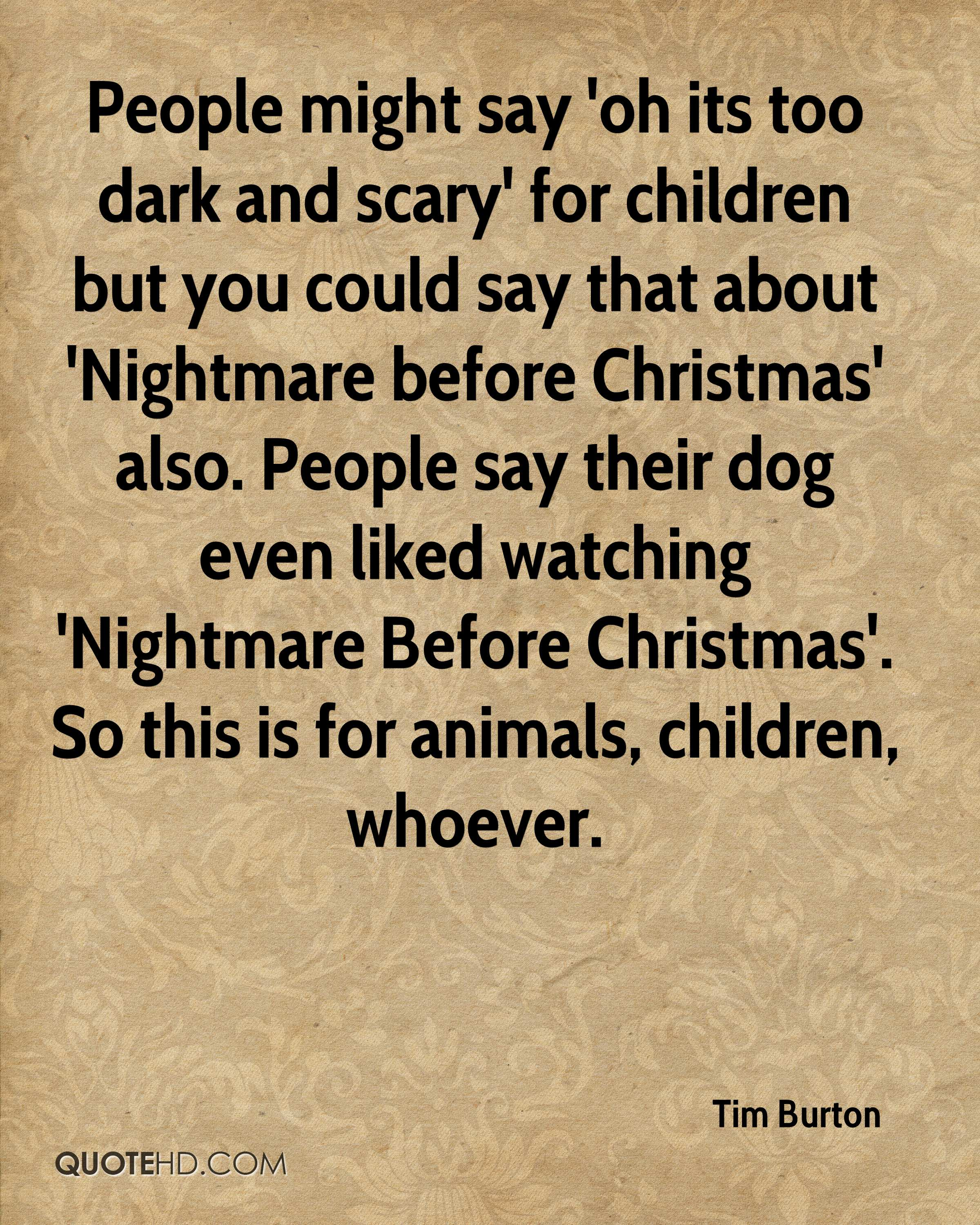 Tim Burton Christmas Quotes | QuoteHD
