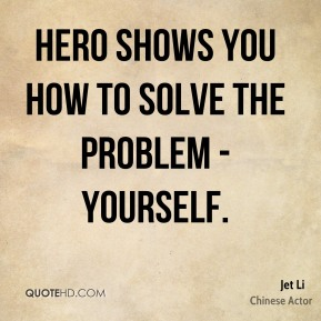 Hero shows you how to solve the problem - yourself.