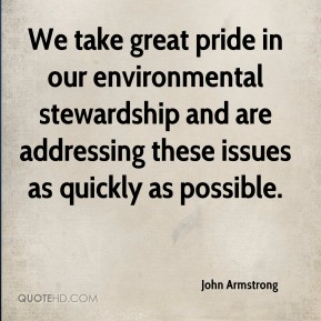 We take great pride in our environmental stewardship and are addressing these issues as quickly as possible.