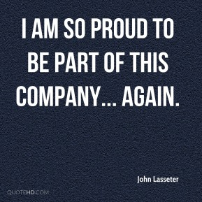 I am so proud to be part of this company... again.