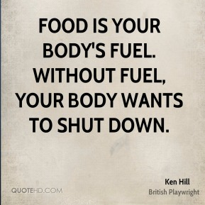 Food is your body's fuel. Without fuel, your body wants to shut down.