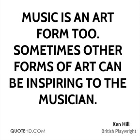 Music is an art form too. Sometimes other forms of art can be inspiring to the musician.