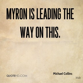 Myron is leading the way on this.