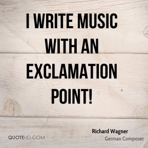 I write music with an exclamation point!