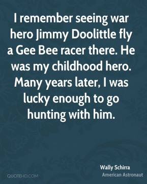 I remember seeing war hero Jimmy Doolittle fly a Gee Bee racer there. He was my childhood hero. Many years later, I was lucky enough to go hunting with him.