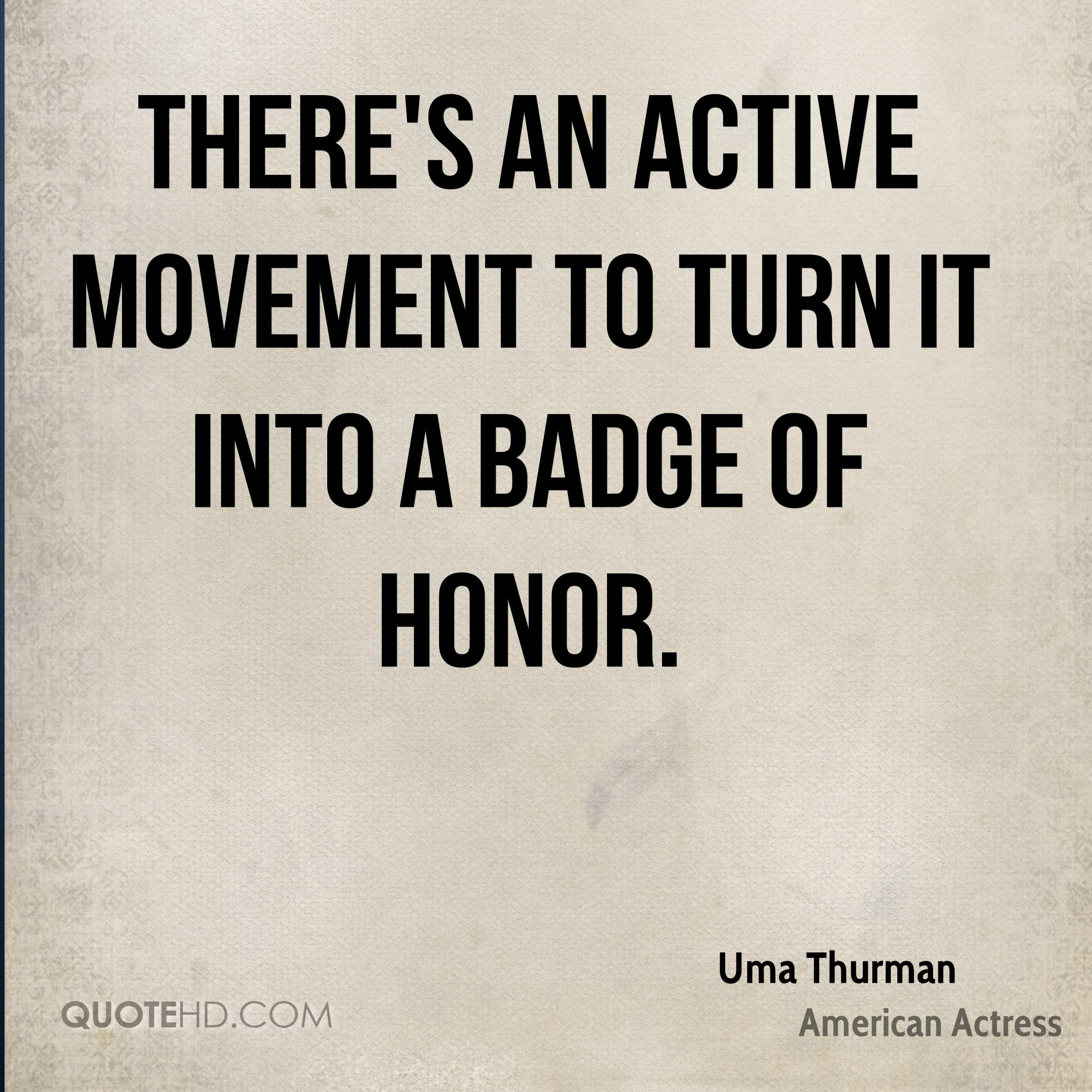 There's an active movement to turn it into a badge of honor.