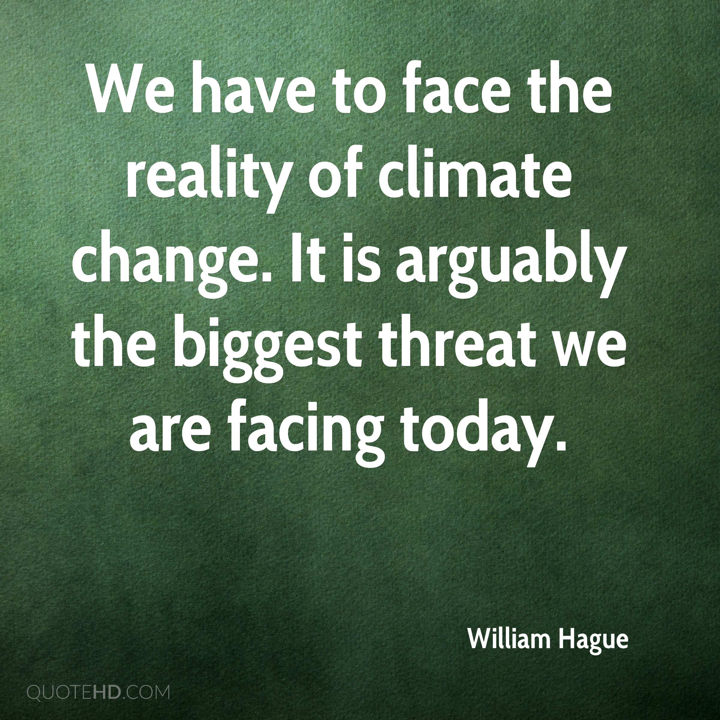 Climate Change Quotes: William Hague Change Quotes