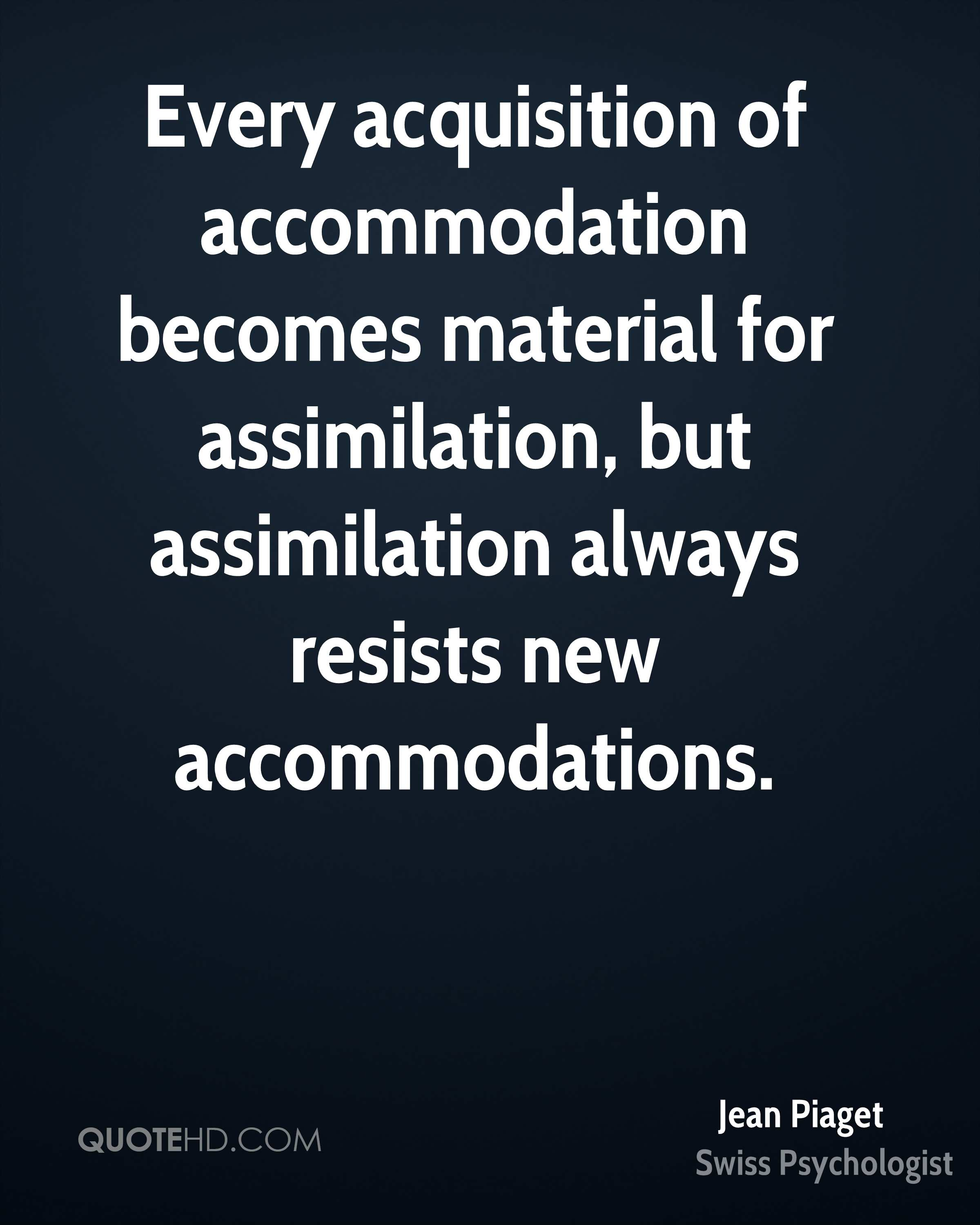 accommodation piaget