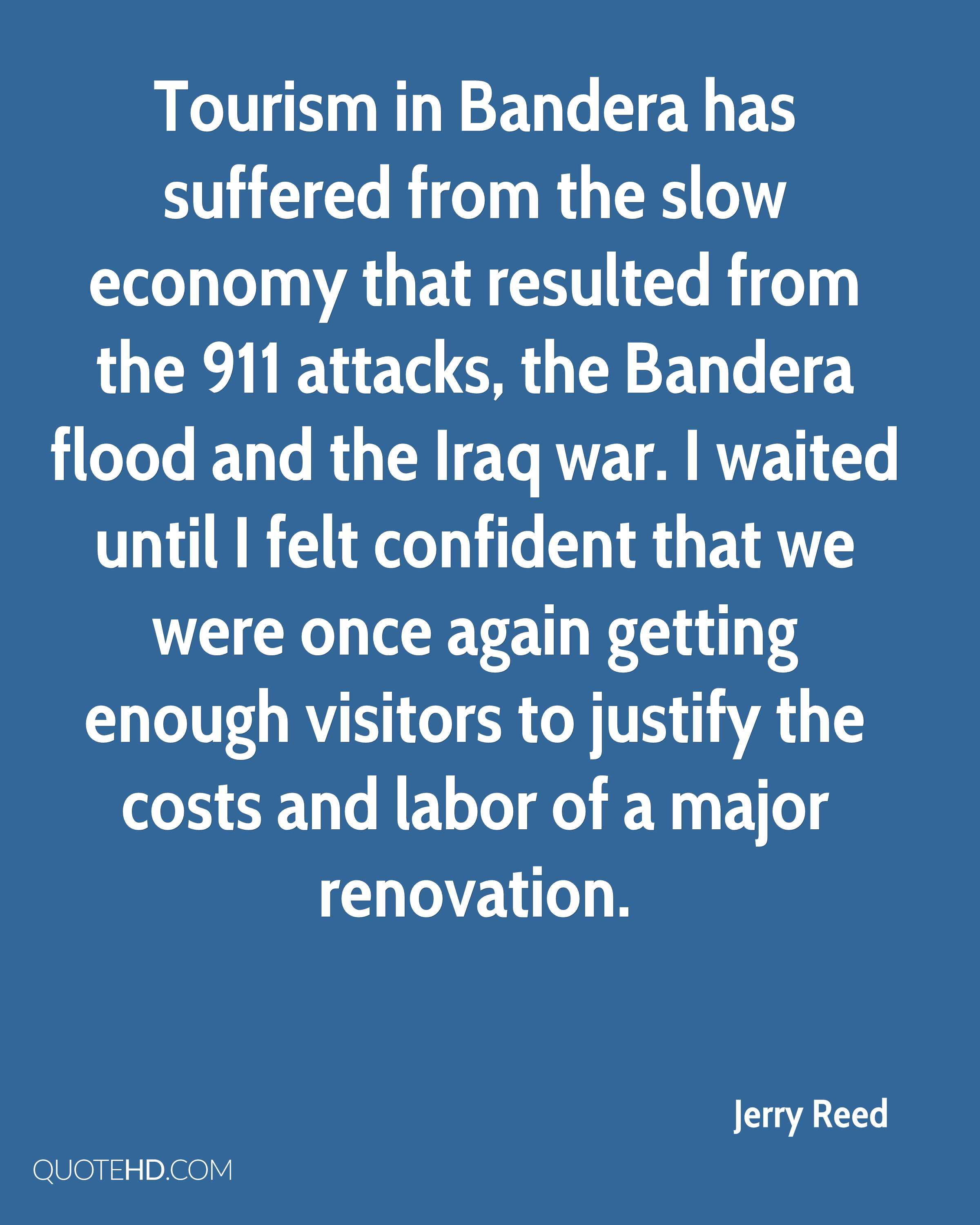 Tourism in Bandera has suffered from the slow economy that resulted from the 911 attacks, the Bandera flood and the Iraq war. I waited until I felt confident that we were once again getting enough visitors to justify the costs and labor of a major renovation.