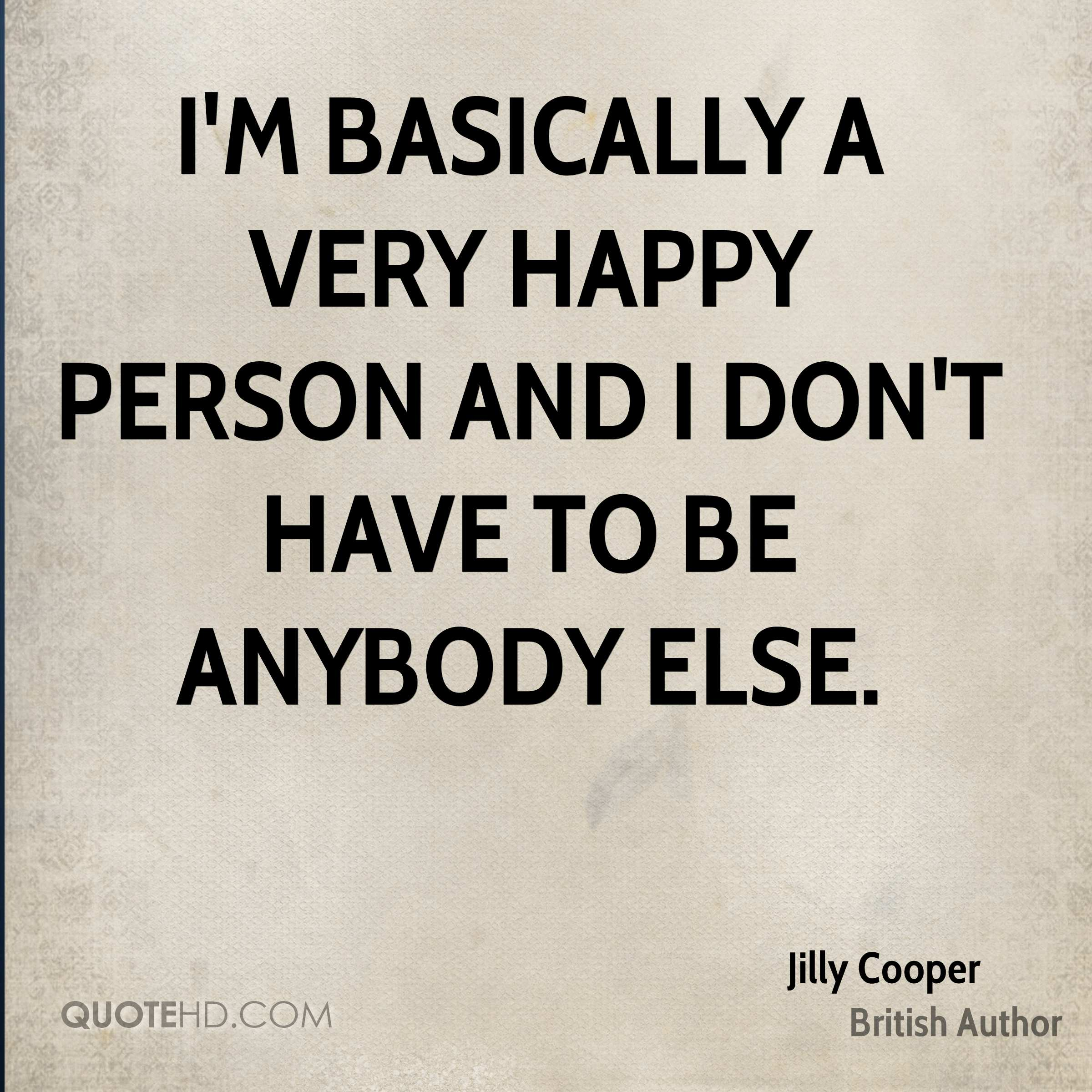 Quotes About Happy Person Jilly Cooper Quotes  Quotehd