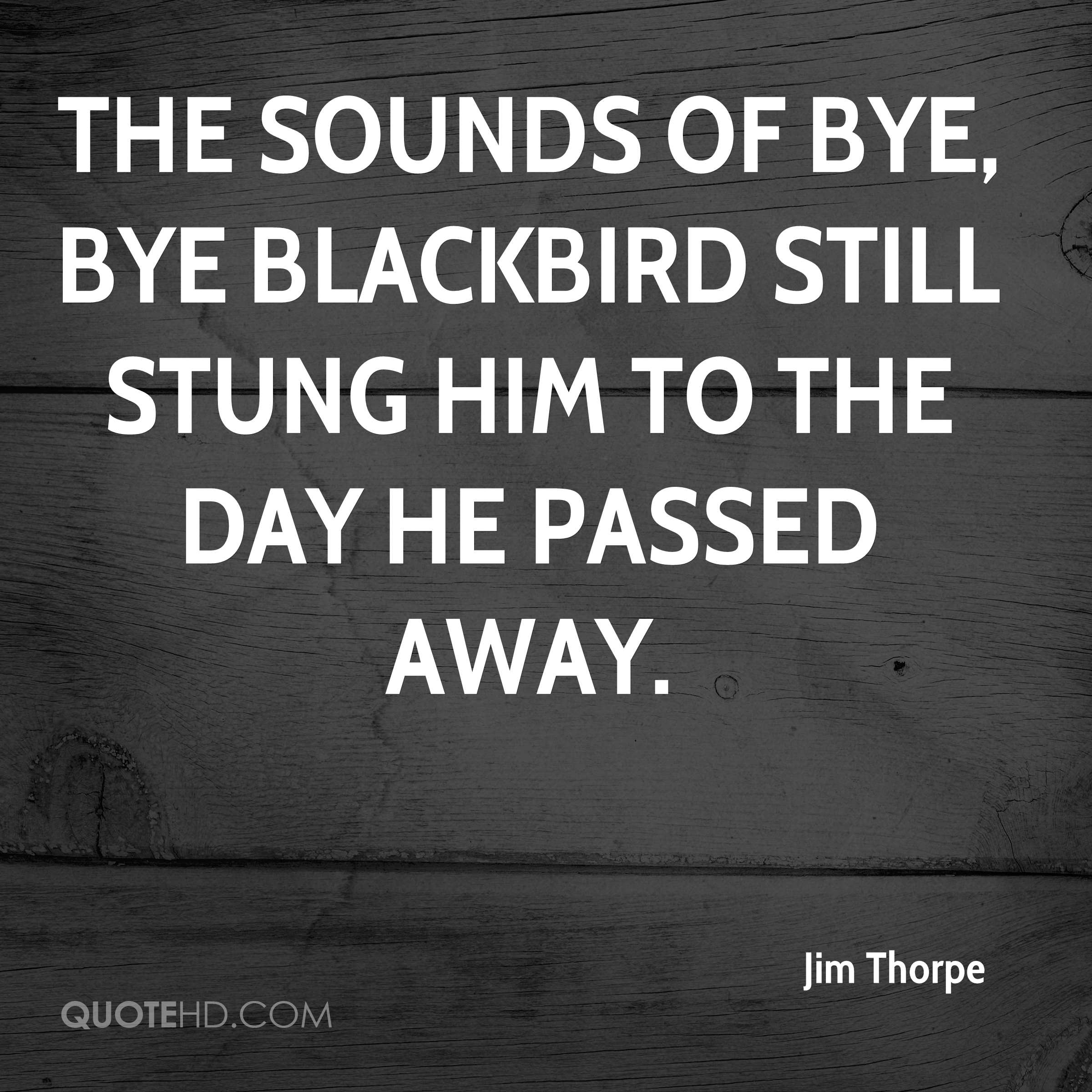 The sounds of Bye, Bye Blackbird still stung him to the day he passed away.