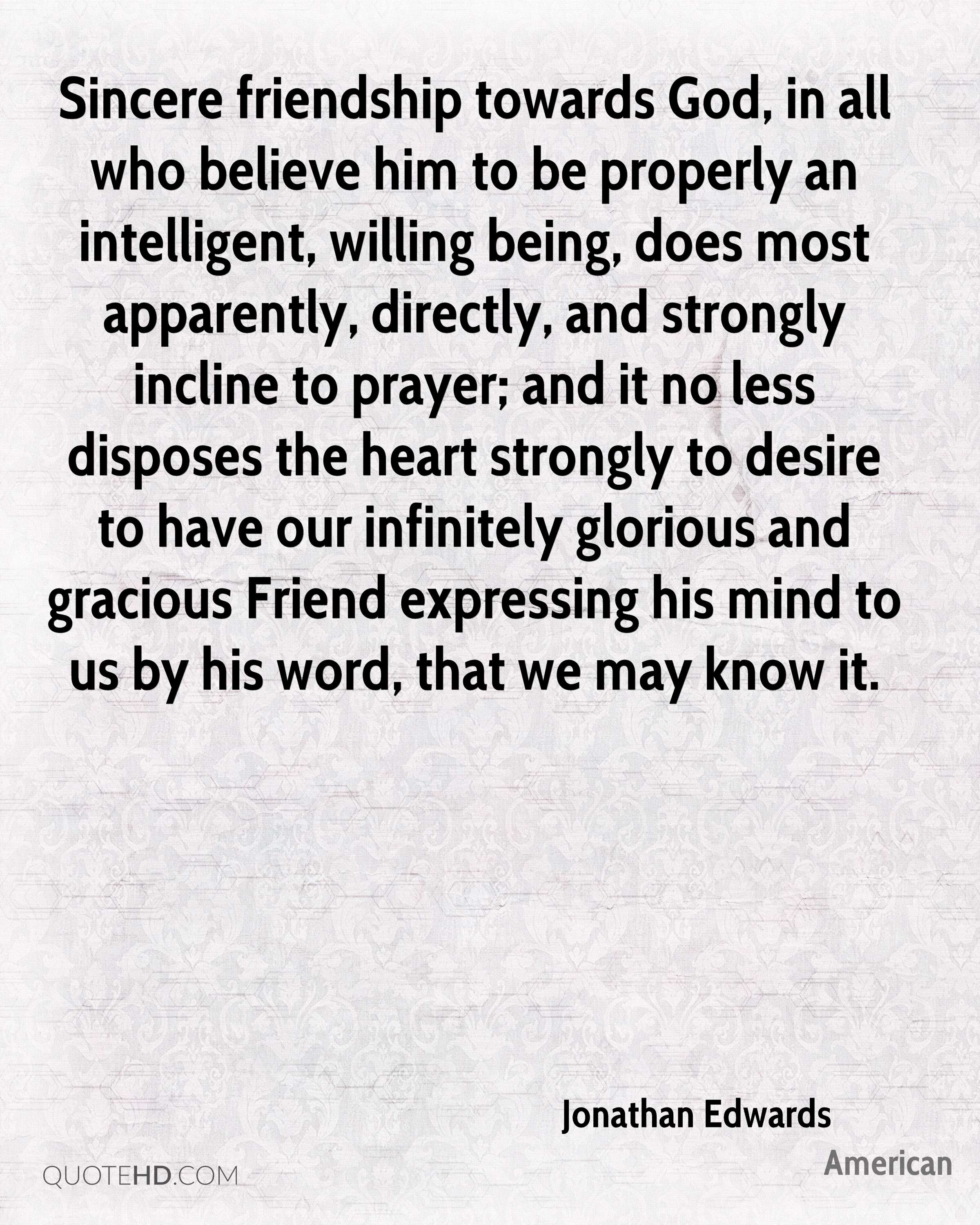 Jonathan Edwards Friendship Quotes Quotehd