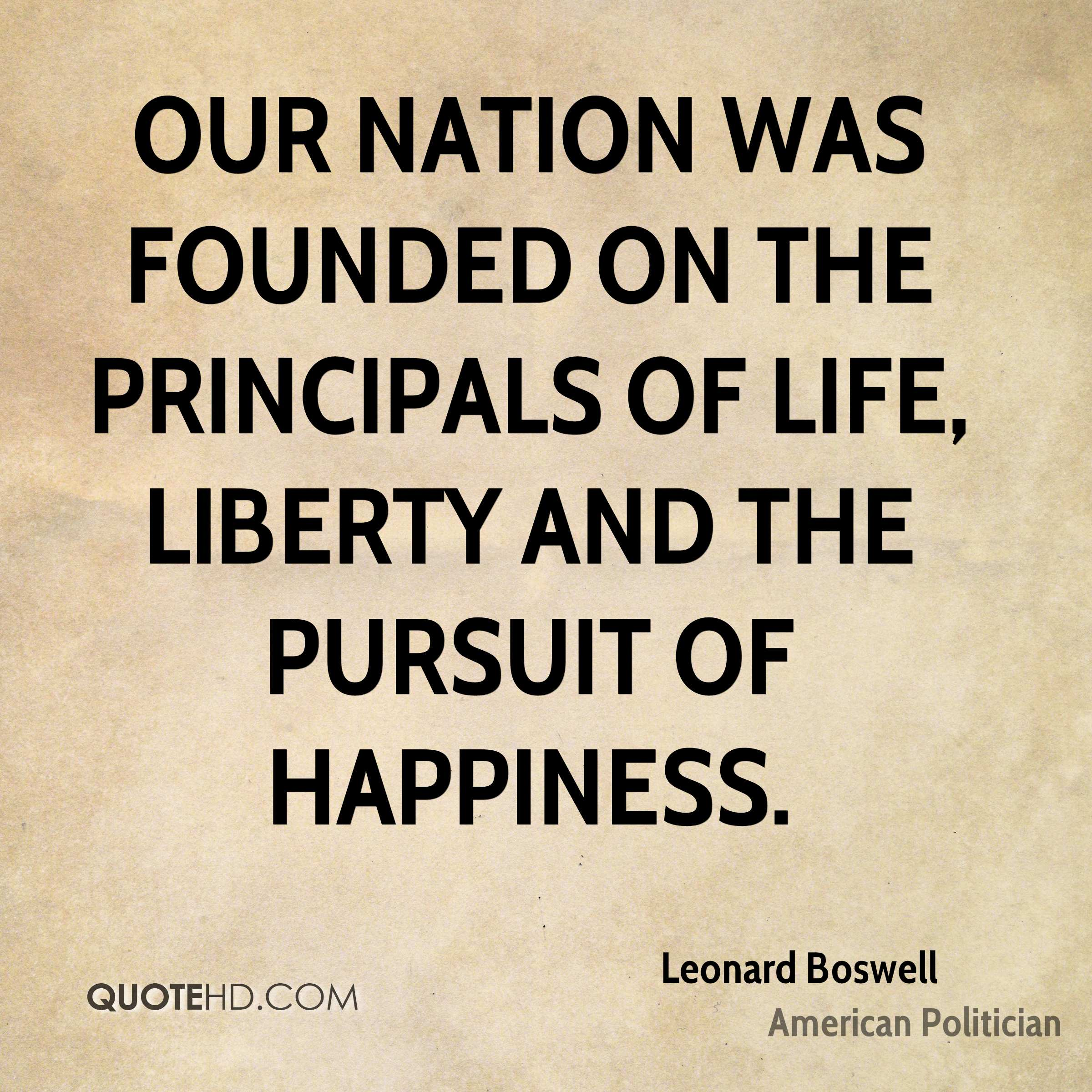 What exactly is the difference between liberty and the pursuit of happiness?