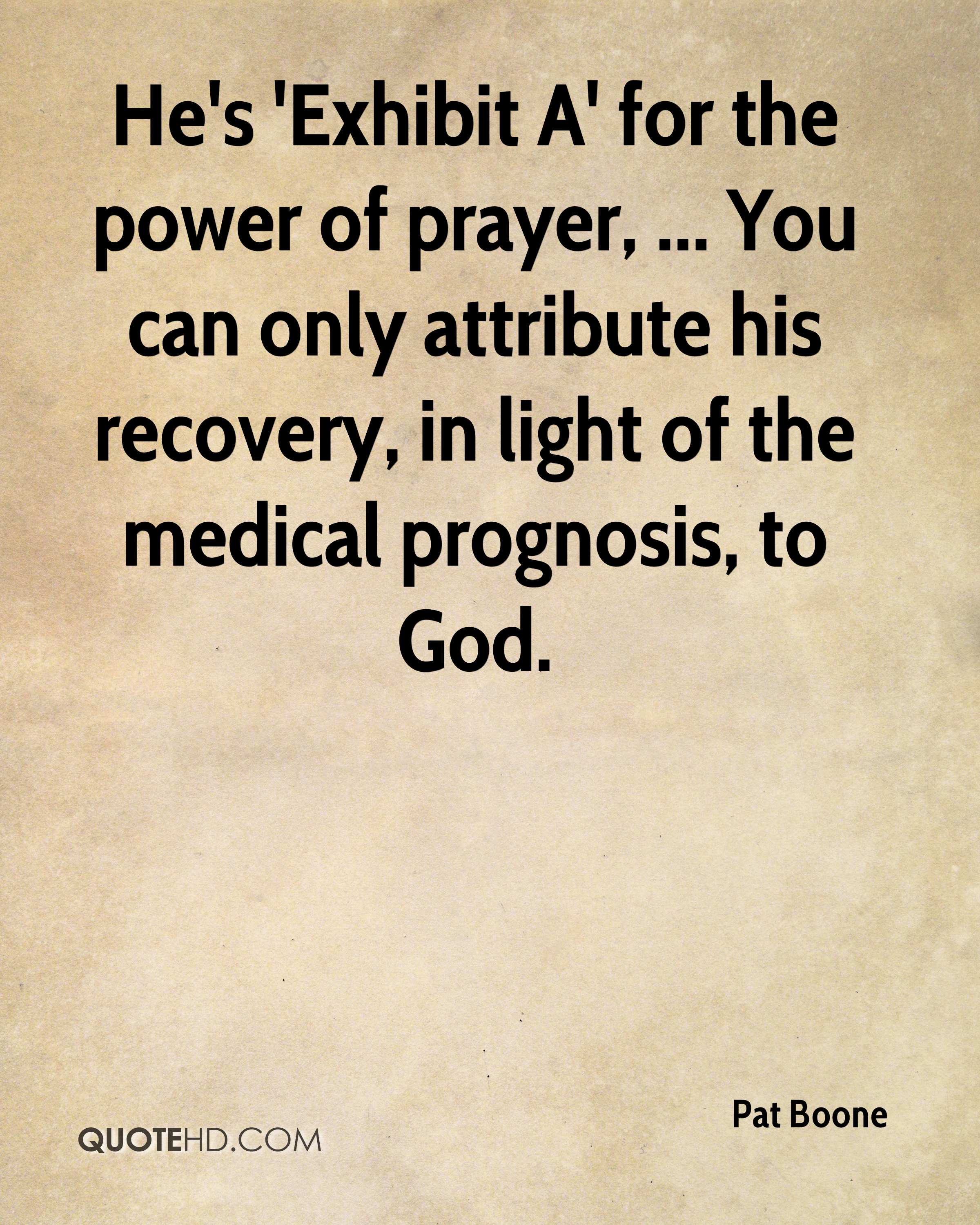 Power Of Prayer Quotes Pat Boone Quotes  Quotehd