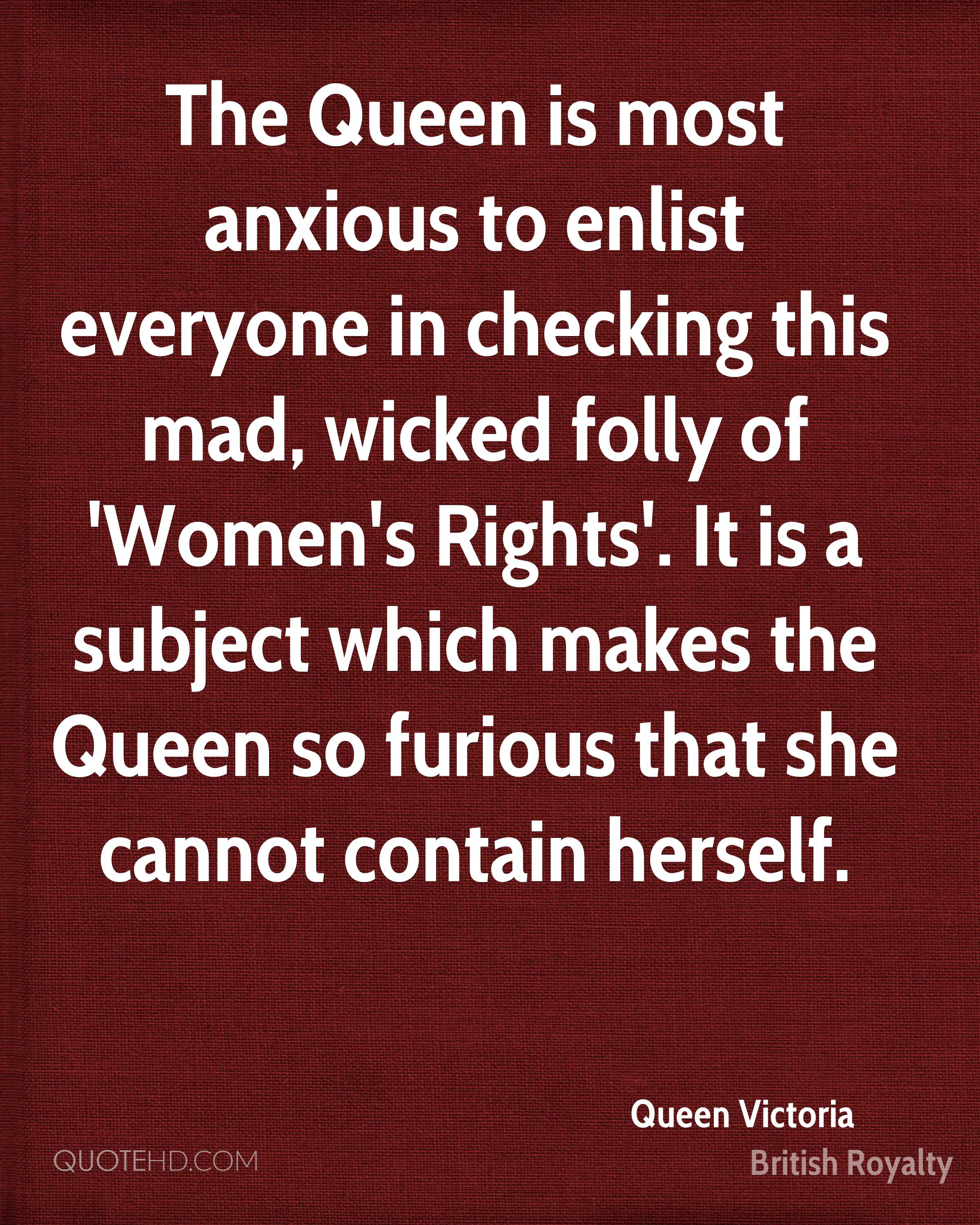 Women's Rights Quotes Queen Victoria Quotes  Quotehd