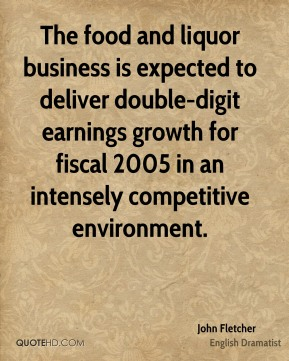 The food and liquor business is expected to deliver double-digit earnings growth for fiscal 2005 in an intensely competitive environment.