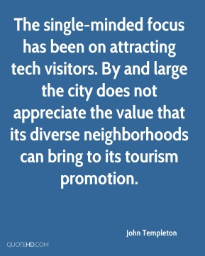 The single-minded focus has been on attracting tech visitors. By and large the city does not appreciate the value that its diverse neighborhoods can bring to its tourism promotion.