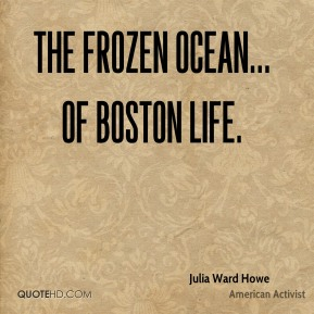 The frozen ocean... of Boston life.