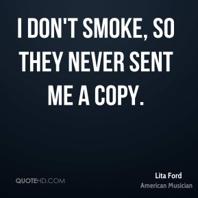I don't smoke, so they never sent me a copy.