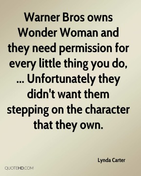 Warner Bros owns Wonder Woman and they need permission for every little thing you do, ... Unfortunately they didn't want them stepping on the character that they own.