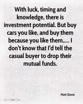 With luck, timing and knowledge, there is investment potential. But buy cars you like, and buy them because you like them..... I don't know that I'd tell the casual buyer to drop their mutual funds.