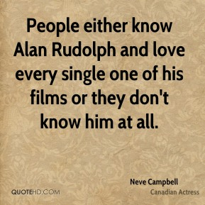 People either know Alan Rudolph and love every single one of his films or they don't know him at all.