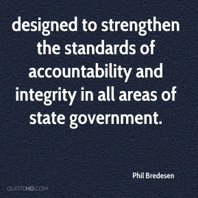 of accountability and Accountability And Integrity Quotes