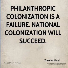 Philanthropic colonization is a failure. National colonization will succeed.