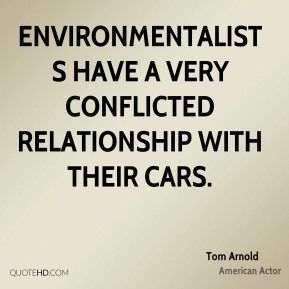 Environmentalists have a very conflicted relationship with their cars.