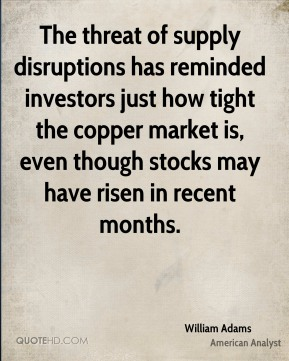 The threat of supply disruptions has reminded investors just how tight the copper market is, even though stocks may have risen in recent months.