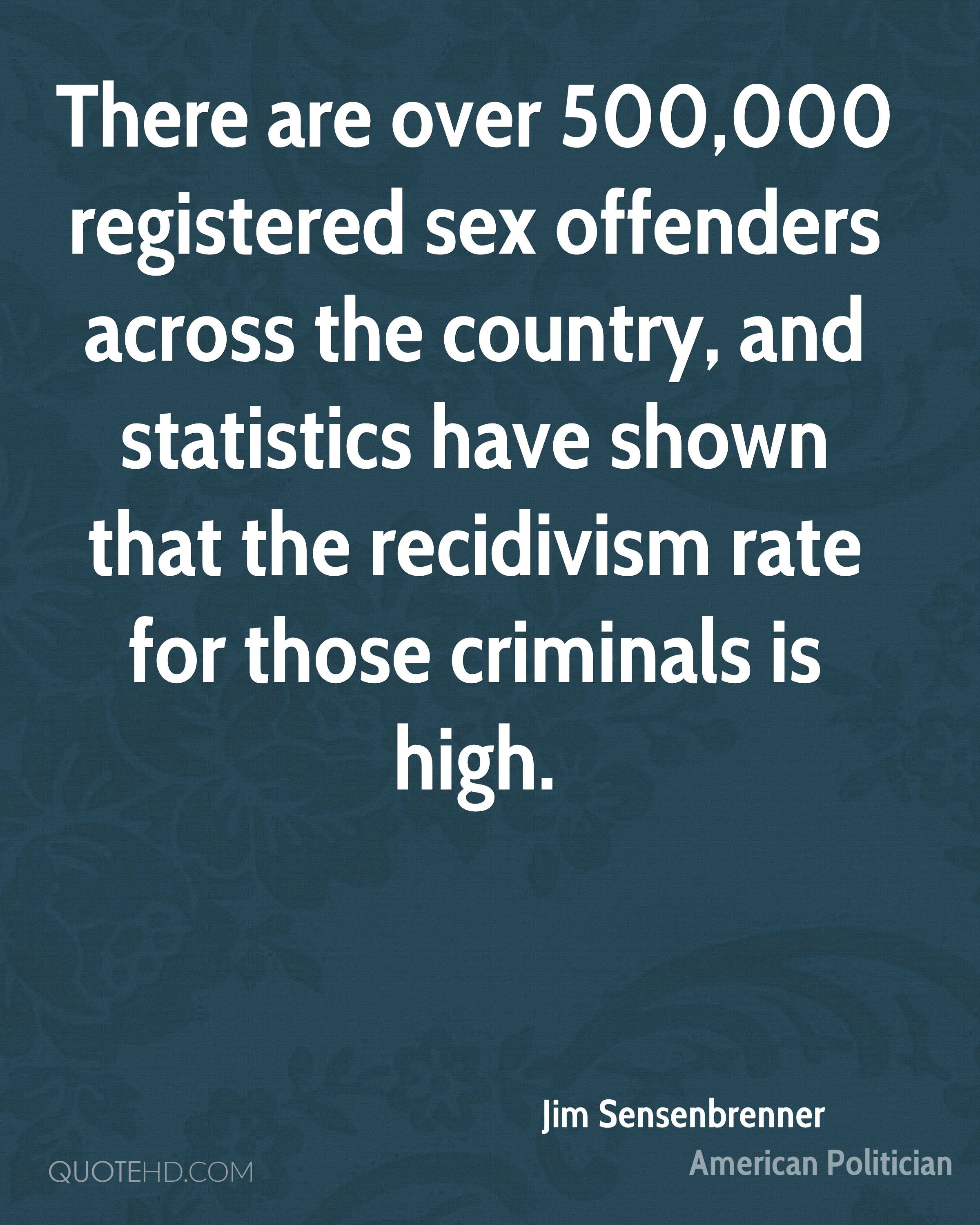 There are over 500,000 registered sex offenders across the country, and statistics have shown that the recidivism rate for those criminals is high.