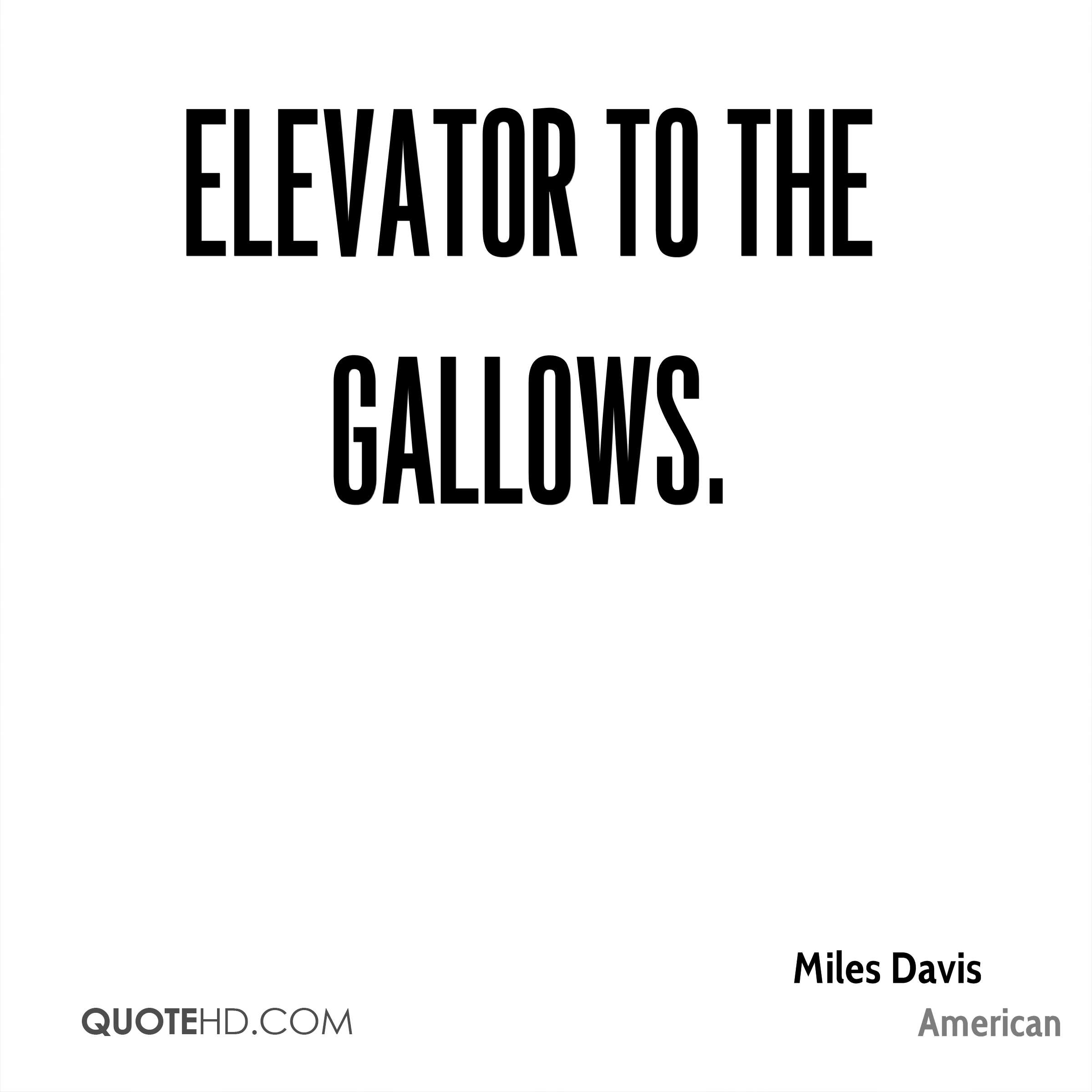 Elevator to the Gallows.
