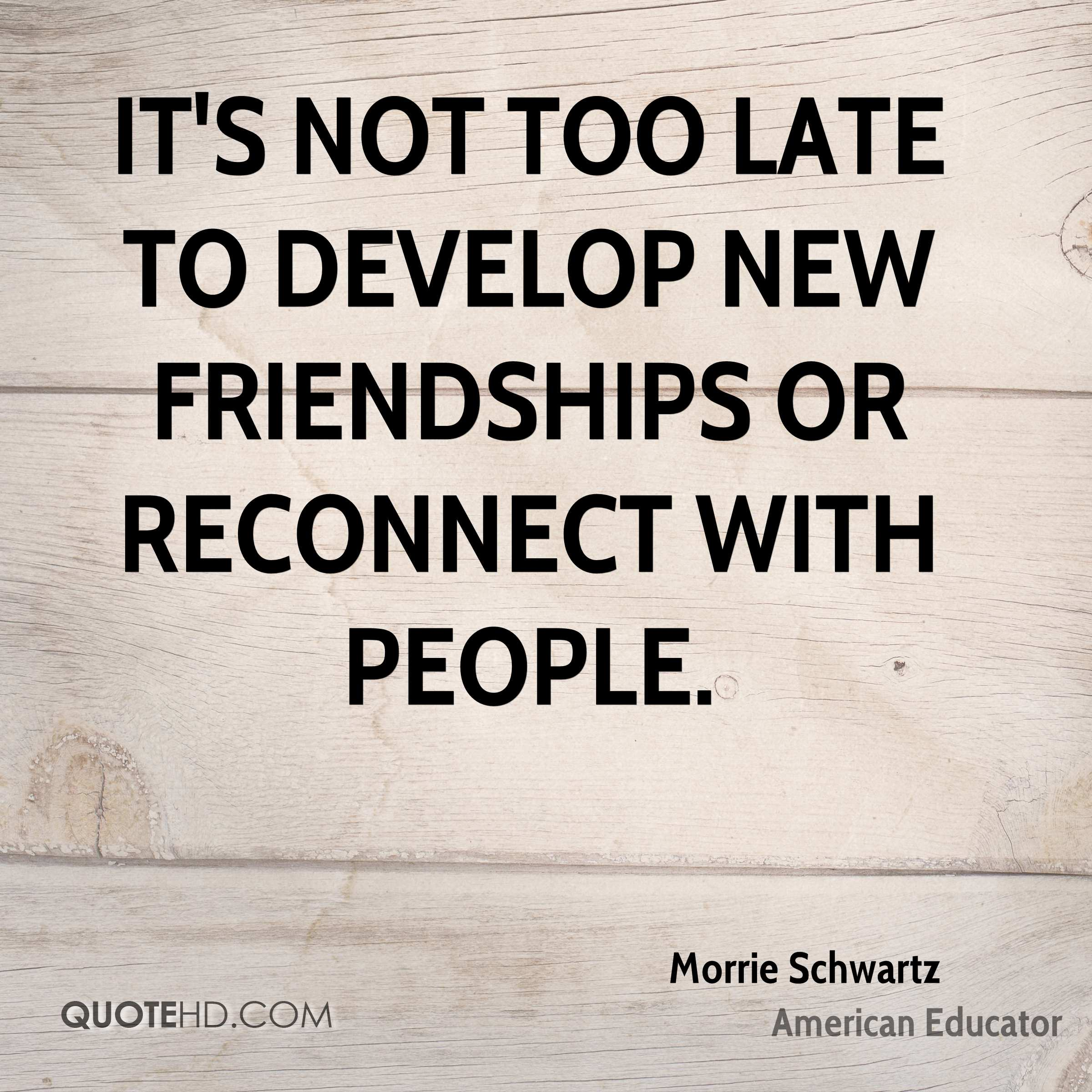 New Quotes About Friendship Morrie Schwartz Friendship Quotes  Quotehd